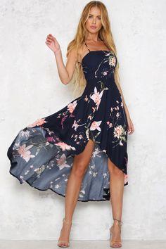 Hello Molly   Tumbleweed Maxi Dress Navy