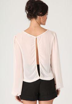 sheer open back blouse (hello bra) £14.99