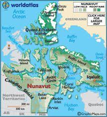 nunavut topographic map