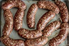 Homemade Bratwurst – German Sausage Recipes.  Includes recipe for beer bath.  Yum