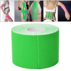[USD2.90] [EUR2.65] [GBP2.09] 5M Waterproof Sports Safety Kinesiology Camouflage Kinesio Tape Bandage, Width: 5cm(Green)