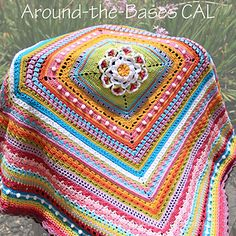 By dailycrochet - August 2015 Sounds promising, right? You're still in time to join the Around-the-Bases (ATB) Crochet Along (CAL) with ChiChi Allen, if you wish. Read more about the first . Crochet Afghans, Crochet Motifs, Afghan Crochet Patterns, Crochet Squares, Crochet Stitches, Crochet Blankets, Doily Patterns, Granny Squares, Love Crochet
