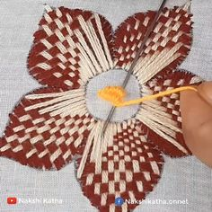 Hand Embroidery Flower Designs, Ribbon Embroidery Tutorial, Basic Embroidery Stitches, Hand Embroidery Videos, Embroidery Flowers Pattern, Creative Embroidery, Paper Embroidery, Sewing Stitches, Embroidery Techniques