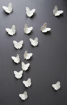 White porcelain wall art sculpture