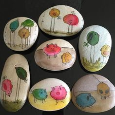 You can choose a fairtylea or fable theme for your painted rocks.
