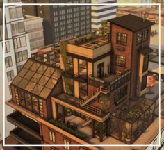 TwoFingersWhiskey Custom Content — awingedllama: • industrial apartment • this... Sims 4 House Plans, Sims 4 House Building, Industrial Apartment, Industrial House, Lotes The Sims 4, Sims Cc, Minecraft Banner Designs, Sims 4 House Design, Casas The Sims 4