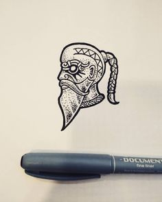 """The old boat builder"" What do you think about new episodes of Vikings? #drawing #sketch #illustration #linework #dotwork #blackandwhite #black #ink #norse #viking #pagan #medieval #history #fantasy #head #boat #floki #thevikings #god #tattoo #design..."