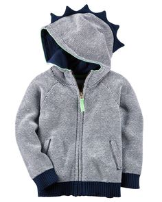Dinosaur Hooded Sweater from Carters.com. Shop clothing  amp  accessories  from a trusted f054a3e57