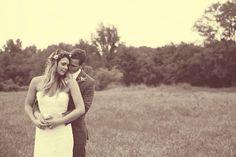 Just Married | Bride & Groom | Mr & Mrs | Boho Wedding | One of my favorites of us #bohowedding #nashvillewedding #rusticwedding #flowercrown