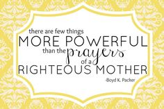 LDS Quote Printable Power of Mothers Prayer by BlondieDesignz, $5.00