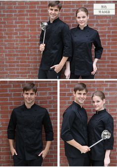 movable button classic restaurant chef jacket uniforms - UniformSELL