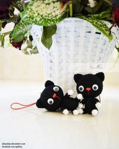 Mini crochet kitty by abaoabao.deviantart.com on @DeviantArt