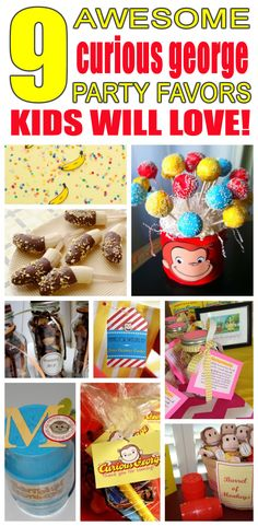 Great curious george party favors kids will love. Fun and cool curious george birthday party favor ideas for children. Easy goody bags, treat bags, gifts and more for boys and girls. Get the best curious george birthday party favors any child would love to take home. Loot bags, loot boxes, goodie bags, candy and more for curious george party celebrations.