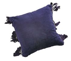 Pillow - Fringe - Navy | Party at the Moontower Event Rentals