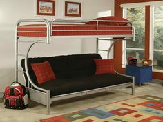 Ikea bunk beds with futon ideasapto Pinterest Bunk bed