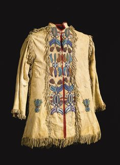 Crow Beaded and Fringed Hide Scout Jacket