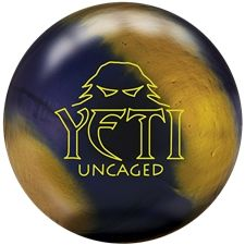 Radical Yeti Uncaged Bowling Ball - (Free Shipping). This second generation Yeti incorporates the same dynamic core as the original Yeti, but with a brand new resin base coverstock.  The Yeti Untamed is a monster, and it has more overall hook than the original Yeti with most of the action taking place down the lane.  To say the Yeti Untamed has a big back end would be an understatement.