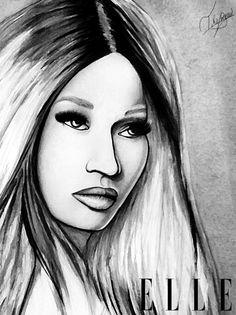 Nicki minaj drawing work