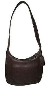 VINTAGE-COACH-DARK-BROWN-LEATHER-SHOULDER-PURSE-GOOD-CONDITION-FREE-SHIPPING