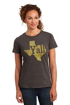Kamal Ohava Women's Home State Vintage Heather Tee Shirt, Medium, Texas