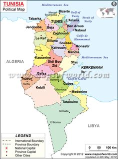 Political Map of Tunisia