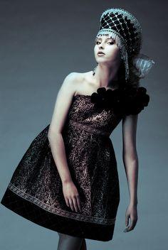#Deysxflorida #photography #JenkasFashion #couture #Russian #Luzhina #kokoshnik #dress