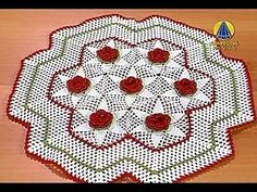 Sabor de Vida | Toalha de Bandeja / Crochê por Maria José - 20 de Junho de 2013 - YouTube