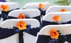cheap do it yourself wedding centerpieces orange and blue - Google Search