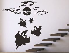 Halloween Wall Decals Stickers Ghost Halloween By DecalIsland, $28.00