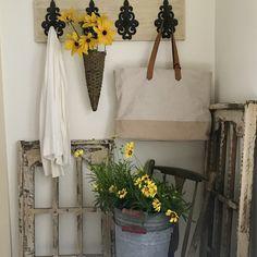 Follow Smiths Country Gardens on Pinterest for home & garden ideas.  #farmhouse ideas #farmhouse #mudroom #mudroomideas Farmhouse Ideas, Mudroom, Will Smith, Ladder Decor, Garden Ideas, Home And Garden, Gardens, Country, Home Decor