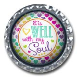 Bible Verse Needle Minder - What a Friend we have in Jesus Handcrafted, Flattened Bottle Caps with Epoxy Domes - 1 ¼ x 1 ¼ inch x Super strong neo Christian Crafts, Christian Art, Flatten Bottles, Praise Songs, Needle Minders, Craft Kits, Cross Stitching, Crafts To Make, Bible Verses