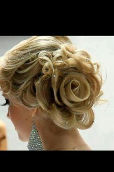 Rose Braid Updo--- wouldn't this be amazing with a hint of pink for breast cancer awareness in october.