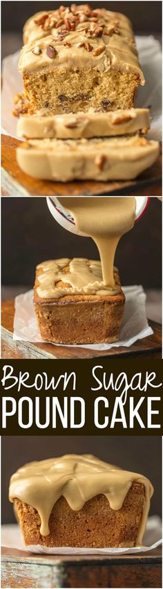 This BROWN SUGAR POUND CAKE with BROWN SUGAR ICING (let's be honest, it's caramel) is utterly delicious and just perfect for Fall. A simple classic. The pecans add a little extra crunch to this sweet