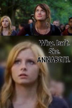 It makes sense! She totally looks like Annabeth! Look at her (and she actually looks like a blond)