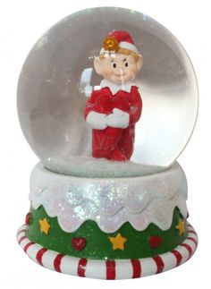 Elf on a Candy Cake 6 inch Resin Stone Christmas Water Globe Decoration -- Check this awesome product by going to the link at the image. Water Globes, Snow Globes, Winter Snow, Christmas Themes, Elf On The Shelf, Pixie, Candy, Stone, Resin
