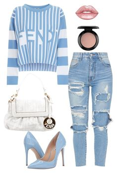 """""""Untitled #74"""" by daviscantrece on Polyvore featuring Fendi, Steve Madden, Lime Crime and MAC Cosmetics"""