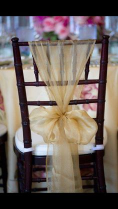 Cool alternative to sashes & 02 17 Rustic Ideas Plum Pretty Sugar | Pinterest | Decorated chairs ...