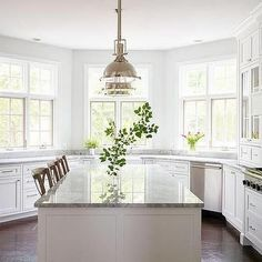 u shaped kitchen with bay window - Google Search