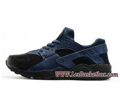 pretty nice 4007b 0aa68 Nike Air Huarache Bleu Noir 318429 ID8 Nike Urh Homme Pour Noires -  318429 ID8 - Le Originals