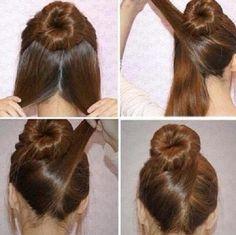 penteados fáceis de fazer sozinha coque diferente