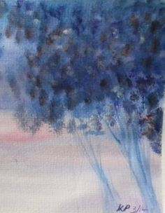 Keeley Pearson: Watercolour Trees  Currently on display in the Bootstrap Artisan shop, Mander Centre, Wolverhampton, UK.