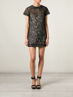 RED VALENTINO 'Princess' embroidered sheer dress