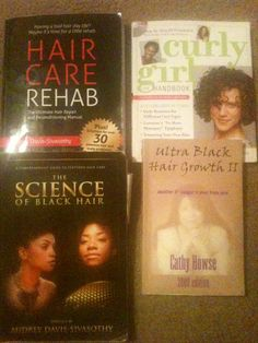 My natural hair care library.