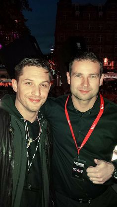 "From Roland Furi on Facebook | Oct 21, 2013   ""For me He's the next Bond … with Tom Hardy - at the Odeon Cinema in Leicester Square."""