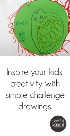 Provide drawing challenges for kids by altering the paper you provide for their artwork. These challenge drawings inspire their creativity in different ways