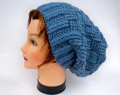 Unisex Slouchy Hat  Starlight Blue Warm by BettyMarieJones on Etsy, $25.00