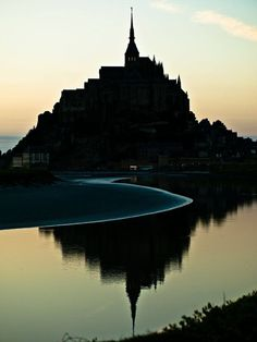 The tidal waters surrounding Mont Saint-Michel, France This is one of my favorite places that I have ever visited and I cannot wait to return Places Around The World, Oh The Places You'll Go, Places To Travel, Places To Visit, Around The Worlds, Mont Saint Michel France, Le Mont St Michel, Beautiful World, Beautiful Places