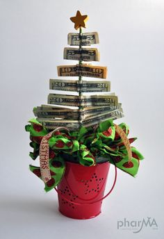 Money Tree, Christmas Tree made out of Money