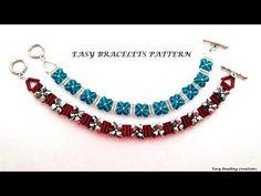 Seed Bead Bracelets Tutorials, Beaded Bracelets Tutorial, Diy Bracelets Easy, Beaded Bracelet Patterns, Woven Bracelets, Ankle Bracelets, Beading Tutorials, Bead Patterns, Arm Candies