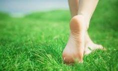 walking around barefoot everywhere!